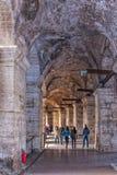 罗马罗马斗兽场内部走廊 免版税库存照片