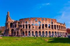 罗马罗马斗兽场在一个晴天 库存照片