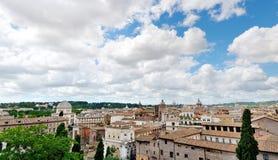 罗马美丽的景色从Campidoglio的 免版税库存图片