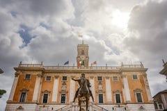 罗马自治都市房子 库存照片