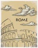 罗马葡萄酒海报旅行 库存图片