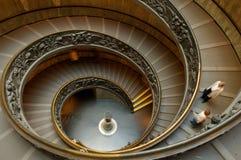 罗马螺旋形楼梯梵蒂冈 库存照片