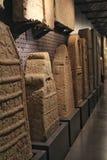 罗马被雕刻的墓碑在里斯本考古学博物馆  库存照片