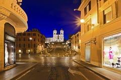 罗马西班牙街道上升 库存图片