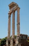 罗马论坛。 铸工和北河三寺庙  图库摄影