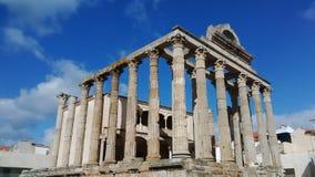罗马论坛在梅里达,西班牙 库存照片