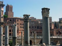 罗马论坛的专栏 免版税库存照片