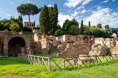 罗马论坛的废墟在罗马 免版税库存照片
