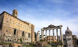 罗马论坛的看法在罗马 免版税库存图片