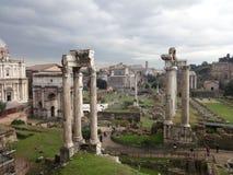 罗马论坛3的惊人的看法 免版税库存图片