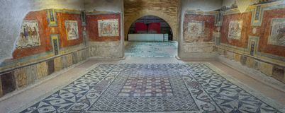 罗马贵族议院壁画绘画 免版税库存照片