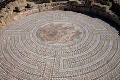 罗马遗产在嘉藤帕福斯考古学公园 免版税图库摄影