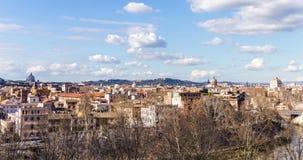 罗马都市风景在冬天 股票视频