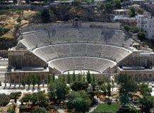 罗马阿曼的圆形露天剧场 库存照片