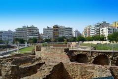 罗马集市塞萨罗尼基希腊 免版税库存图片