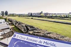 罗马马戏废墟 免版税库存照片