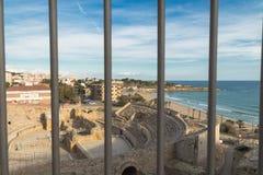 罗马马戏Terraco在塔拉贡纳卡塔龙尼亚西班牙 库存图片