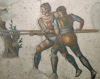 罗马马赛克在伊斯坦布尔 免版税图库摄影