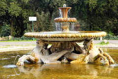 罗马,别墅Borghese公园 海马喷泉 免版税库存照片
