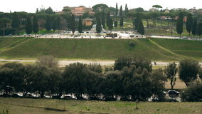罗马,古老和现代大厦和纪念碑的意大利真实性  风景的核心是马戏Maximus 股票视频