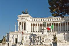 罗马,国会大厦 广场Venezia在一个晴天 库存图片