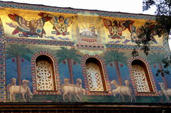 罗马,大厦的前面 库存图片
