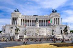 罗马,广场Venezia, Vittoriano 祖国或阿尔塔雷della Patria -胜者伊曼纽尔2,第一位国王的纪念碑法坛  图库摄影