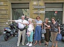 罗马,意大利游人 免版税图库摄影