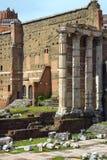 罗马,意大利美丽如画的废墟  免版税图库摄影