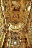 罗马,意大利, 2016年4月11日:在教会圆屋顶的壁画  免版税库存照片