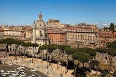 罗马,意大利, 2016年4月11日:从国家的阳台的看法 免版税库存照片