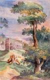 罗马,意大利, 2016年:Antioch壁画圣伊格纳罗Martyrium在教会Basilica di圣维塔利里Tarquinio Ligustri 免版税库存图片