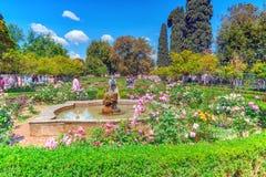 罗马,意大利- 2017年5月08日:在公园的看法帕勒泰恩小山的  库存图片