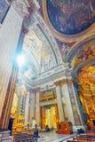 罗马,意大利- 2017年5月09日:在圣伊格纳罗里面o教会  库存图片