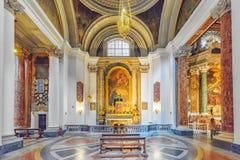 罗马,意大利- 2017年5月09日:在圣伊格纳罗里面o教会  免版税库存图片