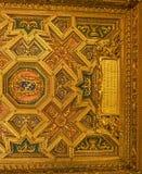罗马,意大利2017年10月9日:教堂的内部天花板  库存图片