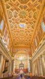 罗马,意大利2017年10月9日:教堂的内部  免版税库存照片
