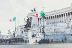 罗马,意大利- 2017年11月30日:纪念纪念碑Vittorian 免版税库存照片