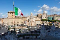 罗马,意大利- 2017年11月30日:纪念纪念碑Vittorian 图库摄影
