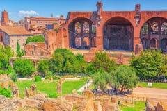 罗马,意大利- 2017年5月08日:考古学和历史对象 库存照片