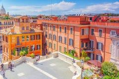 罗马,意大利08日2017年:美好的风景历史视图 免版税图库摄影