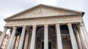 罗马,意大利- 2015年2月21日:万神殿是教会,转换从一个寺庙在罗马 库存图片