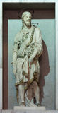 罗马,意大利- 2016年3月12日:圣雅各布雕象在教会基耶萨di Nostra夫人del Sacro Cuore的 免版税图库摄影