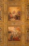 罗马,意大利- 2015年3月27日:壁画在Basilica di Sant安德里亚della瓦尔 库存照片