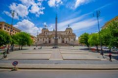 罗马,意大利- 2015年6月13日:大教堂二圣玛丽亚Maggiore在罗马,在可能找到的其中一美好的churchs 免版税图库摄影