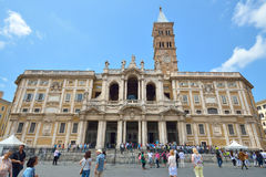 罗马,意大利- 2016年6月01日:大教堂圣玛丽亚Maggiore 库存图片