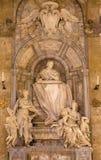 罗马,意大利- 2016年3月10日:对主要彼得罗Basadonna的大理石纪念品在教会Basilica di圣Marco里菲利波Carcani 库存图片