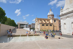 罗马,意大利- 2016年6月01日:罗马街道  免版税库存图片