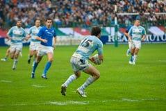 罗马,意大利- 2006年11月18日 橄榄球国际锦标赛意大利阿根廷 库存图片