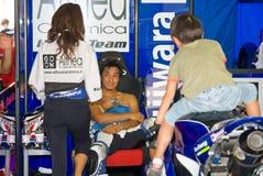 罗马,意大利- 2007年9月30日 超级摩托车冠军, Vallelu 免版税库存图片